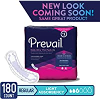 Prevail Light Absorbency Incontinence Bladder Control Pads, Regular, 30-Count (Pack Of 6)