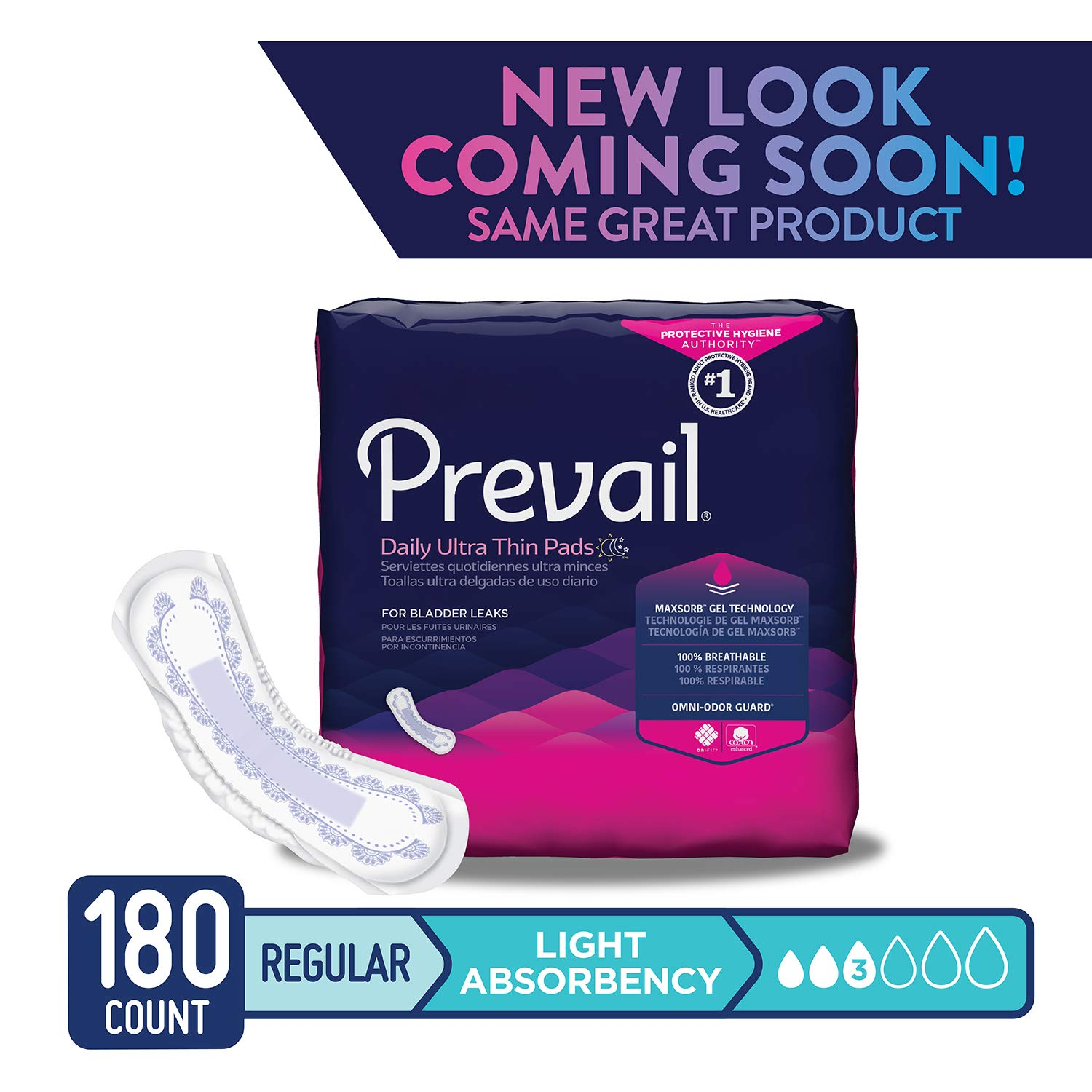 Amazon.com: Prevail Moderate Absorbency Incontinence Bladder Control Pads, Long, 54-Count: Health & Personal Care