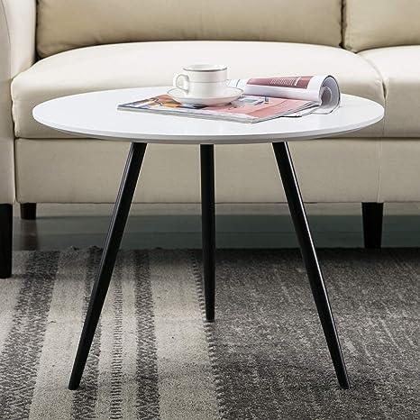 Amazon.com: Canmov Mesa auxiliar redonda de café, mesa de ...