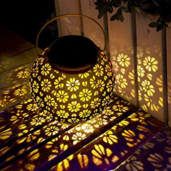 Linterna Solar Exterior,LED Luz Solar Colgando Jardín Farolillo ...