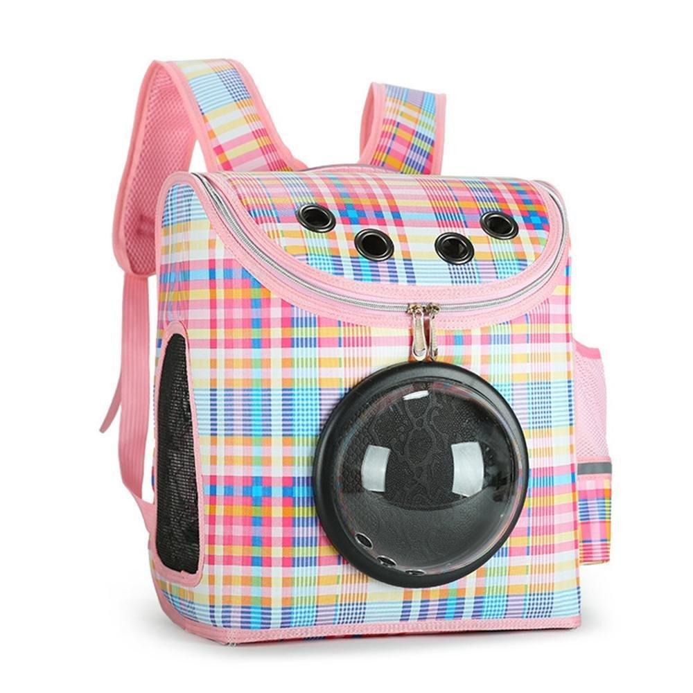 Dixinla Pet Carrier Backpack Space transparent cover out portable breathable 31  19  37cm PVC