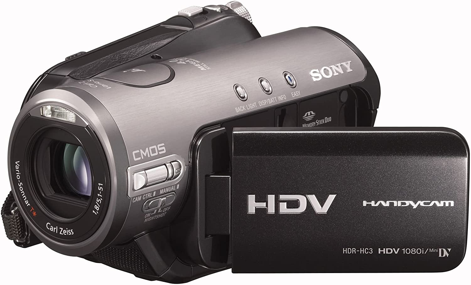 Sony HDR-HC3 - Videocámara (CMOS, 2.1 MP, 1/0,118 mm (1/3