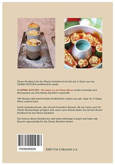 Silikon-Backform 2.0 Aufbackgitter OMNIA-KITCHEN Omnia Backofen 4-teiliges Spar-Set Kochideen Kochbuch Backofen