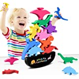Wooden Stacking Dinosaur Toys for Kids 3-5 Boys - Dinosaur Toys for 2 Year Old Boy Stacking Toys Gifts for 2 3 4 Year Old Boy