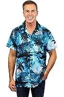 Original King Kameha | Funky Hawaiihemd | Herren | XS - 12XL | Kurzarm | Front-Tasche | Hawaii-Print | Surf Meer Strand | Dunkles Türkis