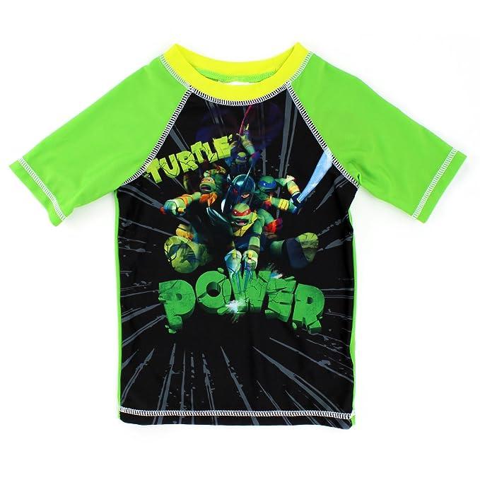 ed7782e4f0 Amazon.com: Teenage Mutant Ninja Turtles Boys Rashguard Swimwear (4 ...