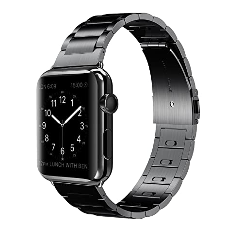 Apple reloj, cierre magnético Elobeth acero inoxidable cierre inteligente reloj pulsera de Metal para Apple Watch ...