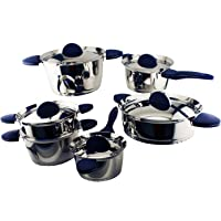 11-Pieces BergHOFF Stacca SS Cookware Set (Blue)