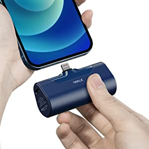 iWALK Small Portable Charger 4500mAh Ultra-Compact Power Bank Cute Battery Pack Compatible with iPhone 11 Pro/XS Max/XR/X/8/7/6/Plus Airpods and More,Blue
