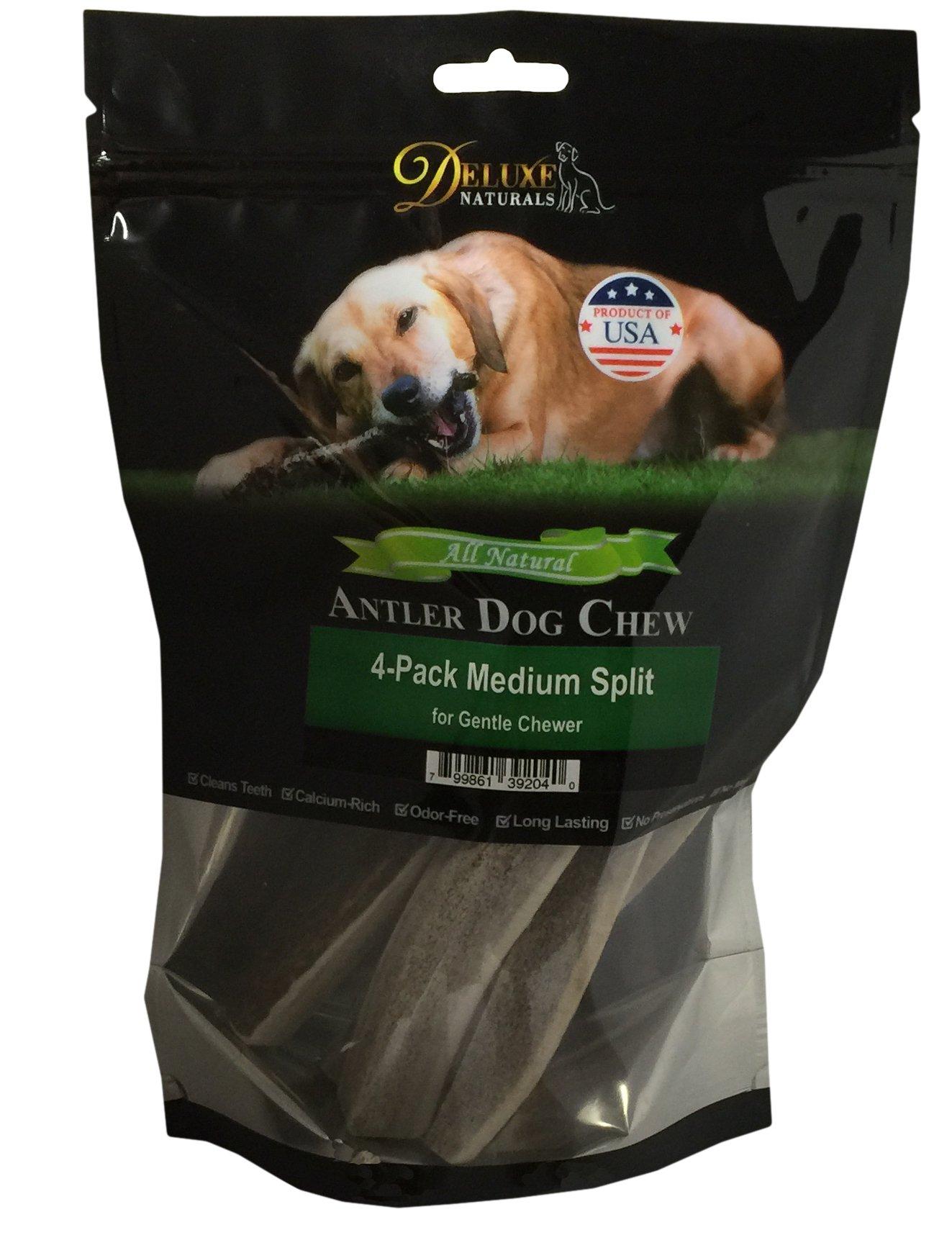 Deluxe Naturals Elk Antler Dog Chew, Split, Medium, 20-50 lb Dogs, 4 Piece by Deluxe Naturals (Image #3)
