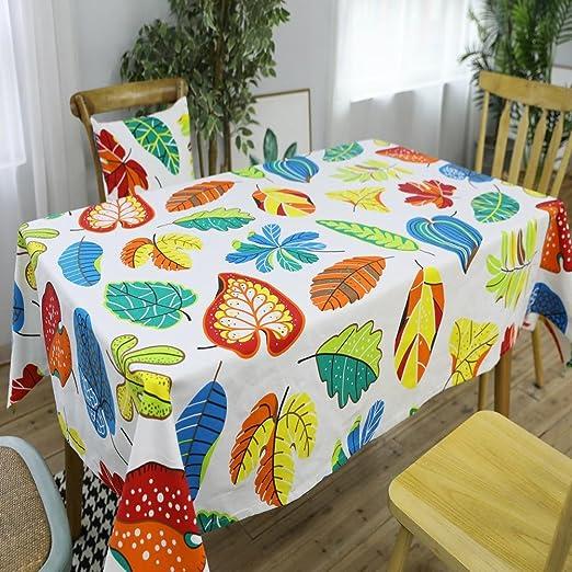 Nórdico moderno simple mantel europeo colorido hojas manteles casa ...