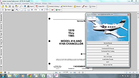 Array - amazon com  cessna 414 service repair maintenance manual library        rh   amazon com