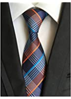 MENDENG New Classic Striped White Black Streak 100% Silk Men'S Tie Necktie Ties