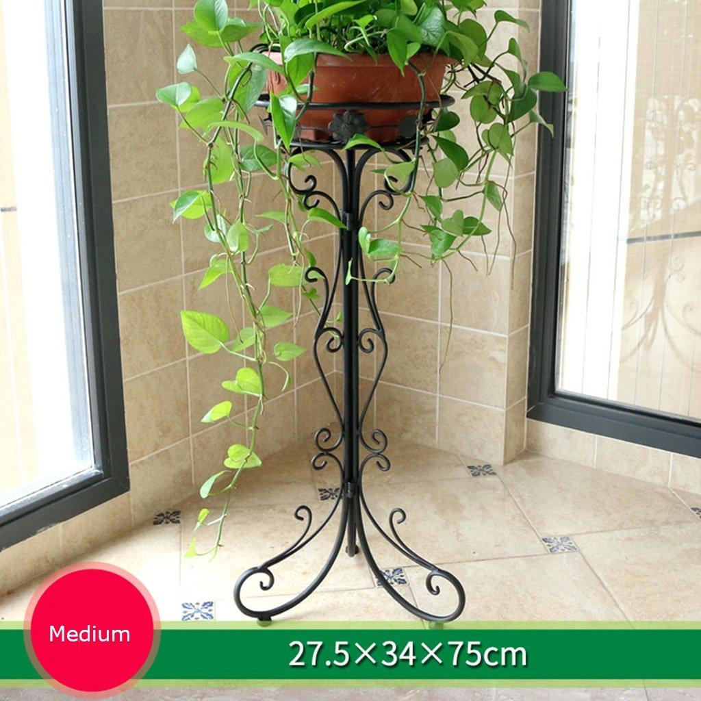MLHJ NNIU- Iron Flower Stand Balcone a Un Piano Soggiorno al Coperto Flower Bonsai Shelf Sub-Bonsai (Dimensioni   75  34cm)