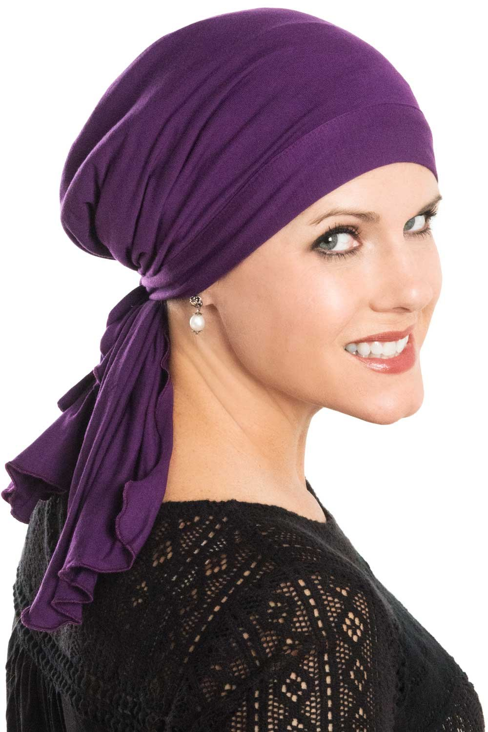 Cardani So Simple Scarf - Pre Tied Head Scarf for Women in Soft Bamboo - Cancer & Chemo Patients Luxury Bamboo - Multi Paisley