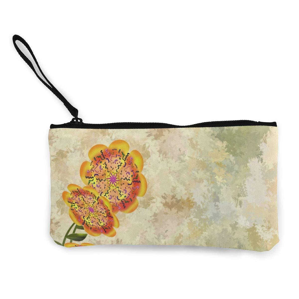 Fashion Print Coin Purse Makeup Bag Zip Canvas Purse Wallet Pocket Handbag