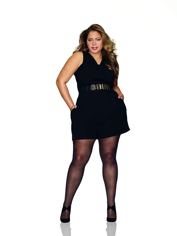 Hanes Womens Plus Size Curves Seasonless Tights