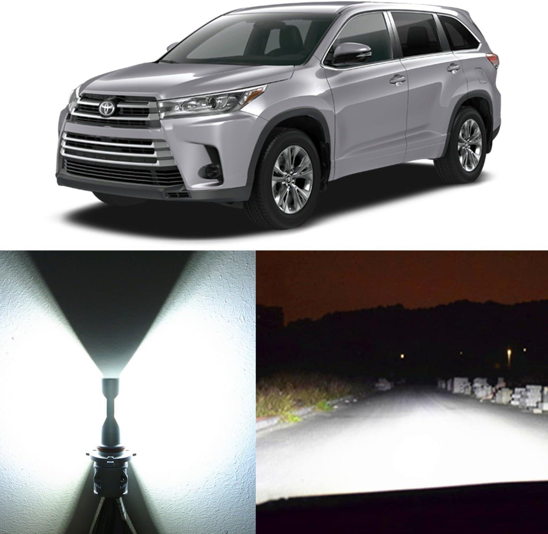 2Pcs H16 LED Fog Light Bulb H11 Super White FOR 2015-2018 Toyota RAV4 Highlander