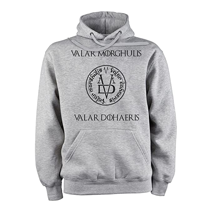 Vallar Morghulis Valar Dohaeris Game Of Thrones Png XXL Unisex Hoodie: Amazon.es: Ropa y accesorios