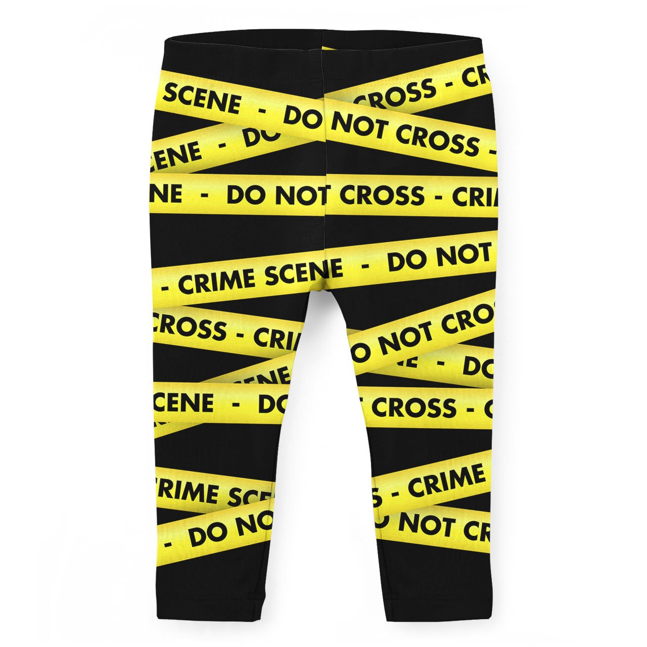 Crime Scene Tape Kids Capri Leggings