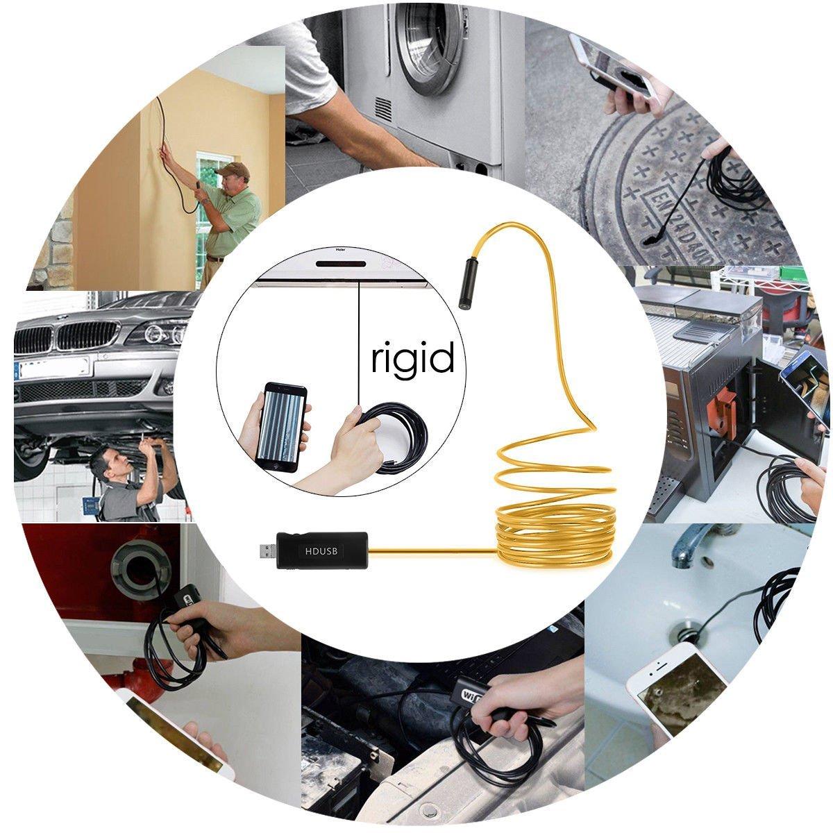 FidgetFidget Wifi USB Waterproof Borescope HD Endoscope Inspection Camera Universal 5M 3M 5M