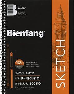 Bienfang Sketch Pad, 8-1/2 by 11-Inch - R237117,White
