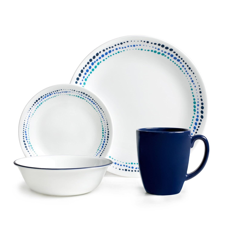 Corelle Livingware Ocean Blues 16-pc Dinnerware Set World Kitchen 3601