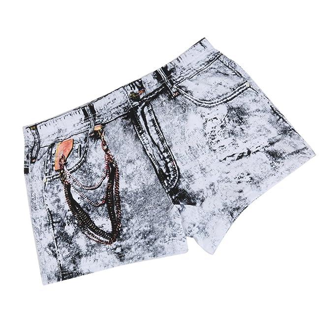 Sharplace Pantalones Cortos de Algodón de Dibujos Animados Ropa Interior Boxeador para Hombres - 3XL