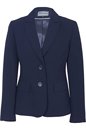 Busy Clothing Women Navy Suit Jacket  Amazon.co.uk  Clothing a06fe52290