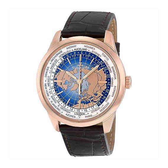Jaeger LeCoultre geophysic Universal tiempo 18 K rosa oro automático Mens Reloj q8102520