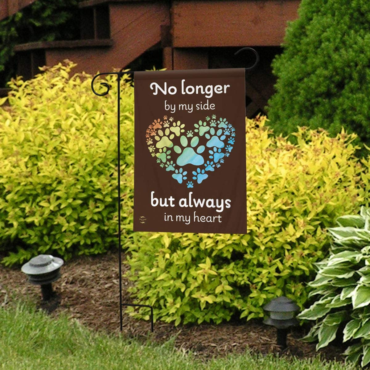 "Pet Memorial Pawprints Garden Flag Cat Dog Bereavement 12.5/""x18/"" Briarwood Lane"