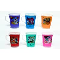 Perpetual Bliss (Pack of 6) Fancy Printed Milk Mugs for Kids with Lid /Shakes/Juices/Coffee/Birthday Return Gifts