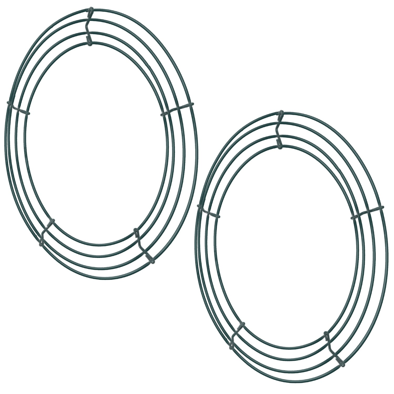 Sumind 2 Pack Wire Wreath Frame Wire Wreath Making Rings Green for New Year Valentines Decoration (12 inch) 4336863172