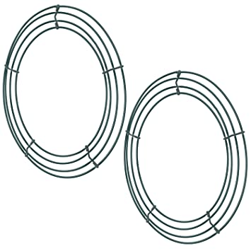 Amazoncom Sumind 2 Pack Wire Wreath Frame Wire Wreath Making Rings
