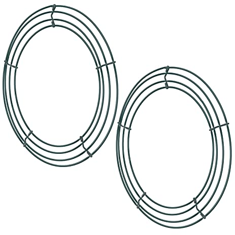 sumind 2 pack wire wreath frame wire wreath making rings green for christmas decoration 12 - Wire Wreath Frame