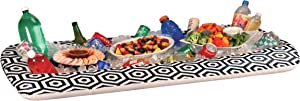"Inflatable Buffet Cooler Tray For Parties – Food And Drink Ice Cooler Extra Large 52"" x 28"" Inch Server Pool Party Floating Picnic BBQ Indoor And Outdoor"