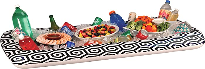 """Inflatable Buffet Cooler Tray For Parties – Food And Drink Ice Cooler Extra Large 52"""" x 28"""" Inch Server Pool Party Floating Picnic BBQ Indoor And Outdoor"""
