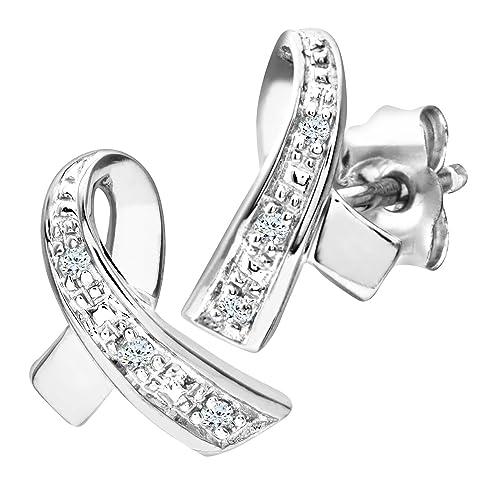 f42a2c3c62c1 Naava Pendientes para Mujer de Oro Blanco 9K con 6 Diamantes  Amazon.es   Joyería