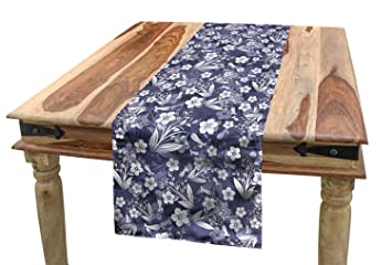 Fantastic Amazon Com Lunarable Floral Table Runner Classical Ocoug Best Dining Table And Chair Ideas Images Ocougorg