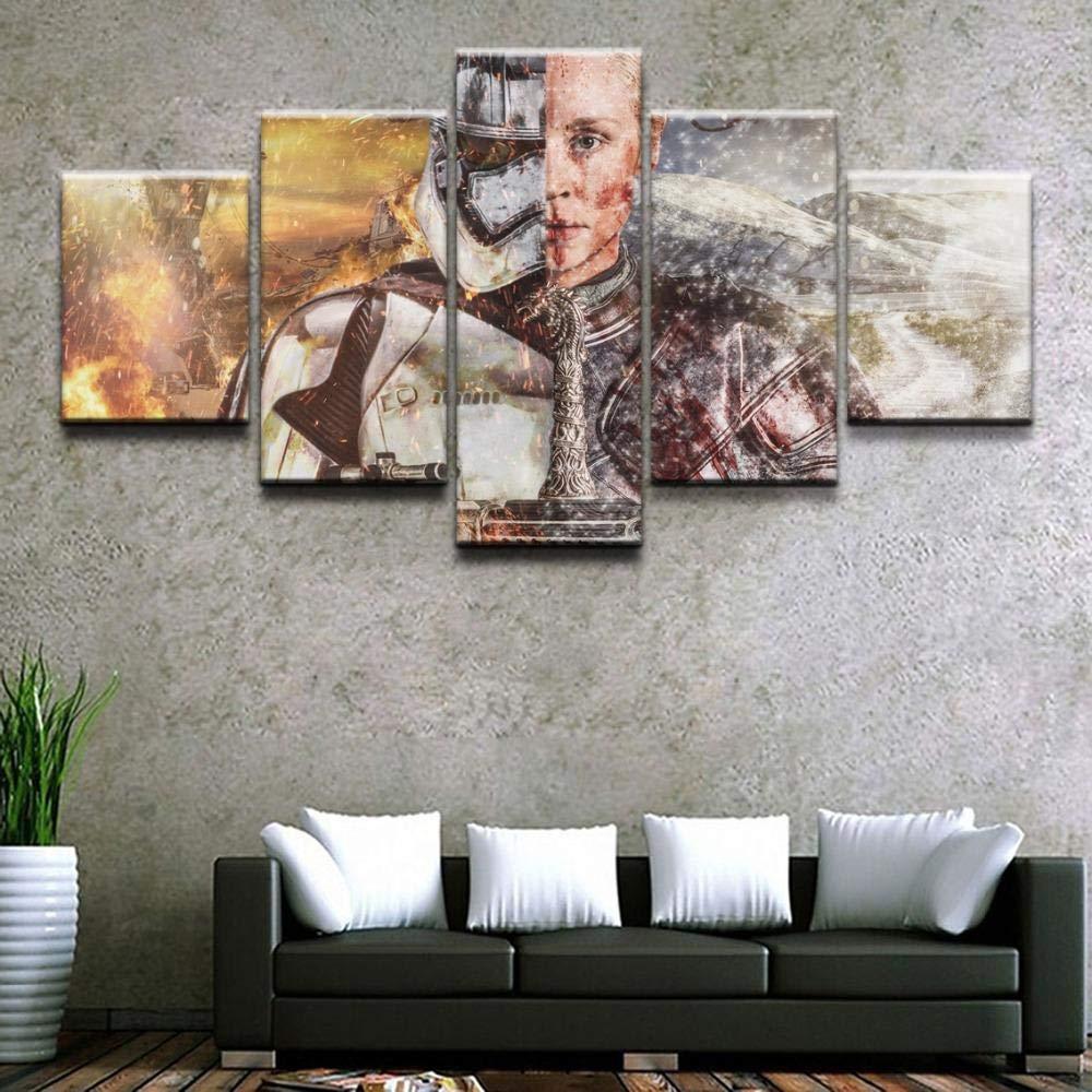 Pintura de Lienzo de 5 Piezas - Stormtrooper & Rey Canvas Set ...