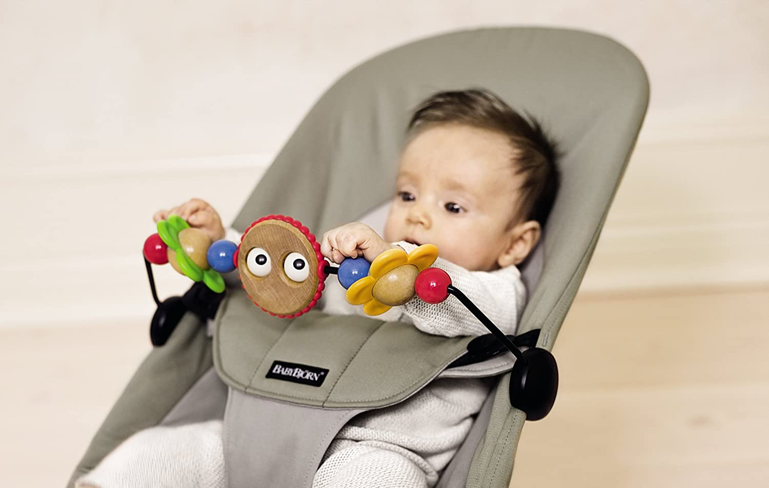 ee35359434a Amazon.com   BABYBJORN Wooden Toy for Bouncer - Googly Eyes   Infant  Bouncers And Rockers   Baby