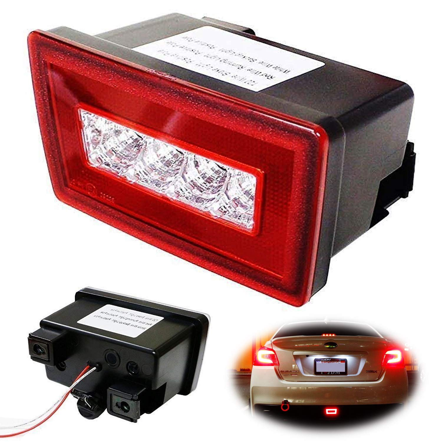 ... Red Lens 3-In-1 LED Rear Fog Light Kit For 11-up Subaru Impreza  WRX/STi, Functions as Tail Lamp, Brake Lamp, Backup Reverse Light (Includes Wire  Harness ...