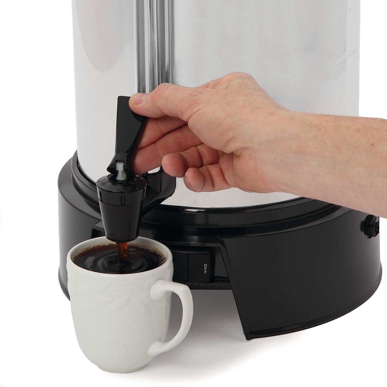 West Bend 13500 Urna de café comercial (aluminio pulido, 55 tazas) Urna de café 55 Cup plata