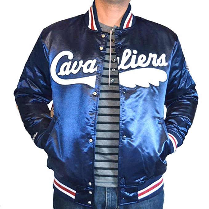 Mitchell & Ness Cleveland Cavaliers NBA HWC Wordmark Satin Bomber College Jacket Jacke: Amazon.es: Ropa y accesorios