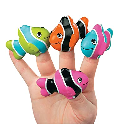 Clown Fish Finger Puppets - Teaching Supplies & Teaching Supplies,pack of 12,various color: Toys & Games