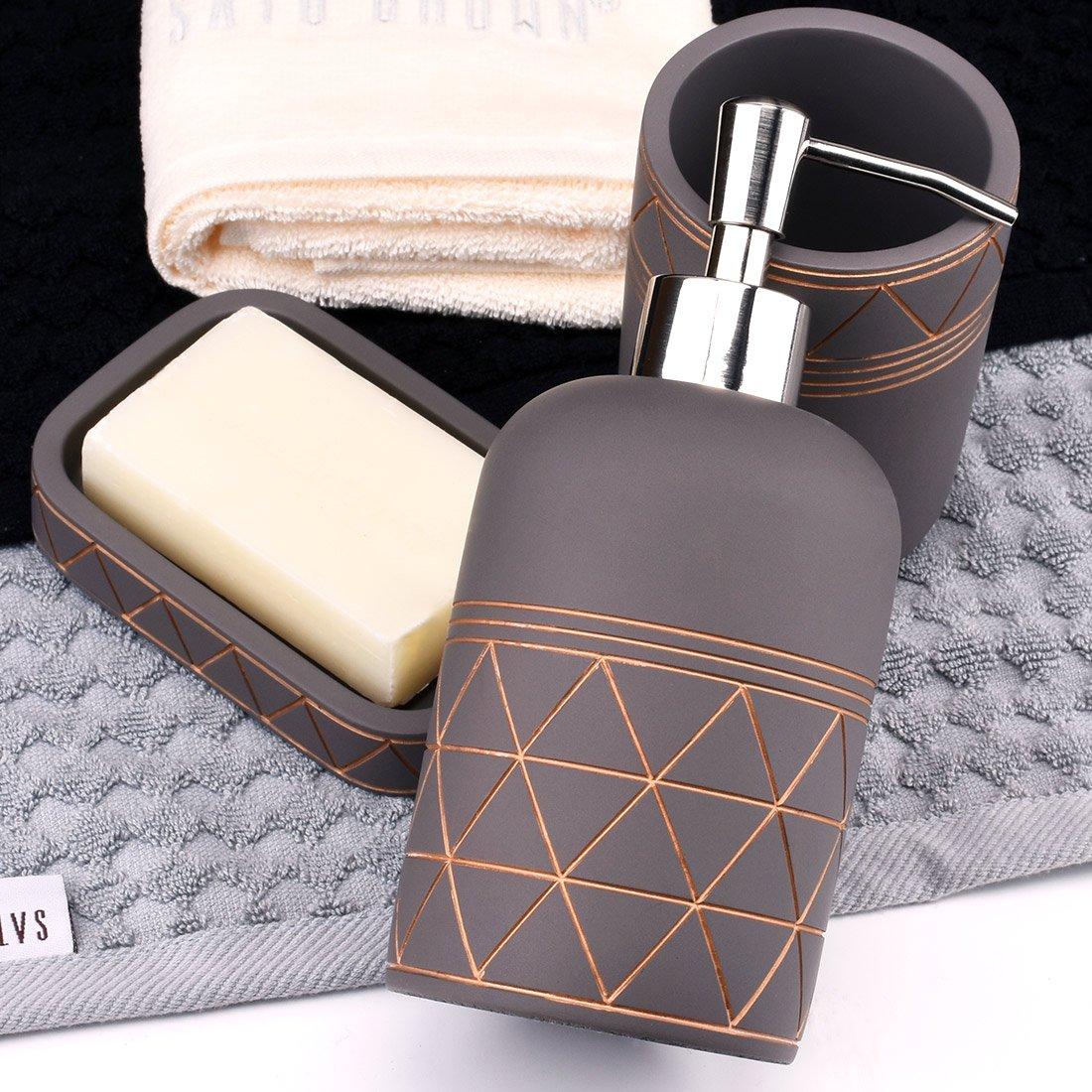 Satu Brown - Conjunto de accesorios de baño b82875717908