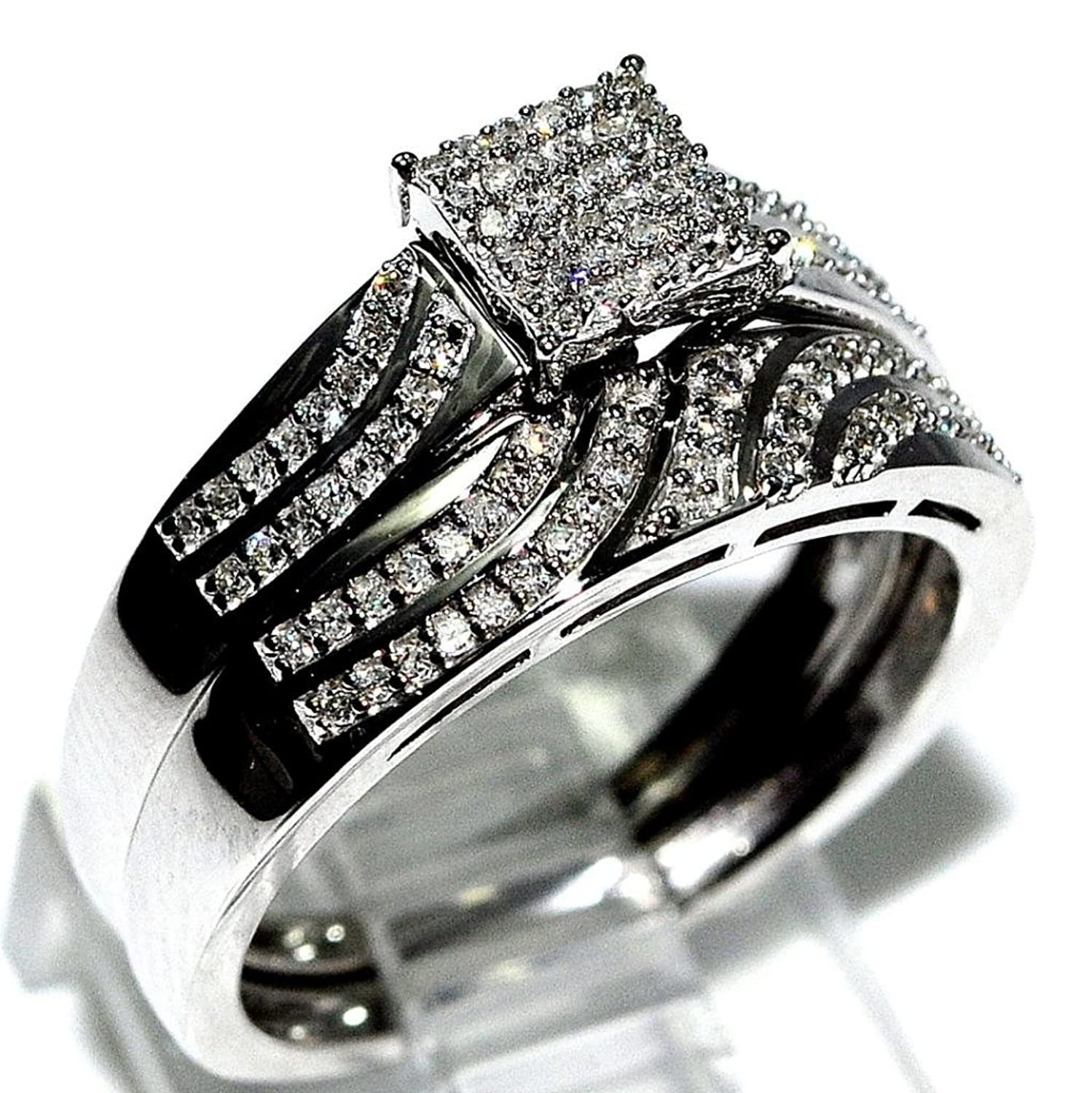 Awesome His and Her Wedding Ring Set