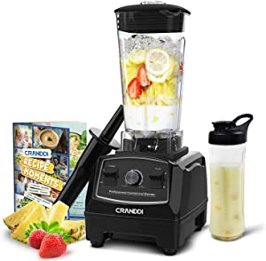 CRANDDI Countertop Blender, Professional High-Speed Smoothie Blender with 70oz Pitcher for Family Size Smoothies and Frozen Drinks, 9-speeds Control & Built-in Pulse, Easy Self-Cleaning with 1500W Base, KND-YL-010-B New