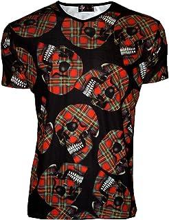 Men s fluo UV en Lycra Stretch Clubwear T-Shirt à col en V-Femme ... 147d0683d7c4