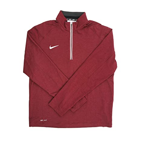 fbed4e77270d Amazon.com   Nike Dri-FIT Men s Burgundy 1 4 Zip Pullover Jacket - Medium    Sports   Outdoors